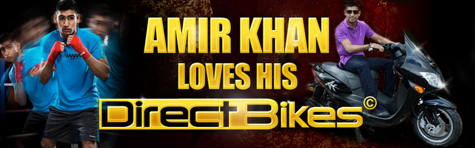 Amir Khan loves his Direct Bikes Moped