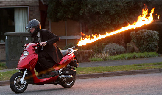 moped flames