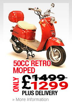 Moped In Bootle Retro